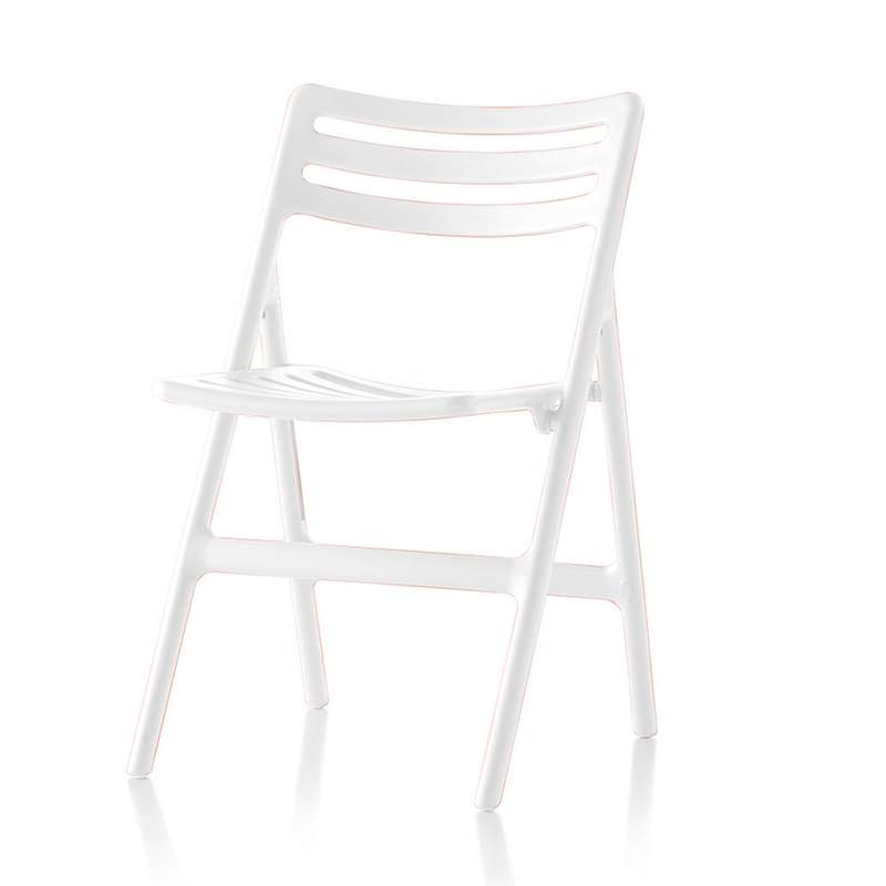 Folding Air Chair Set of 2 in White by Magis