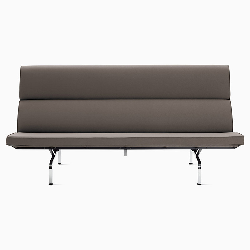 Eames Sofa Compact in Smoke Crepe by Herman Miller