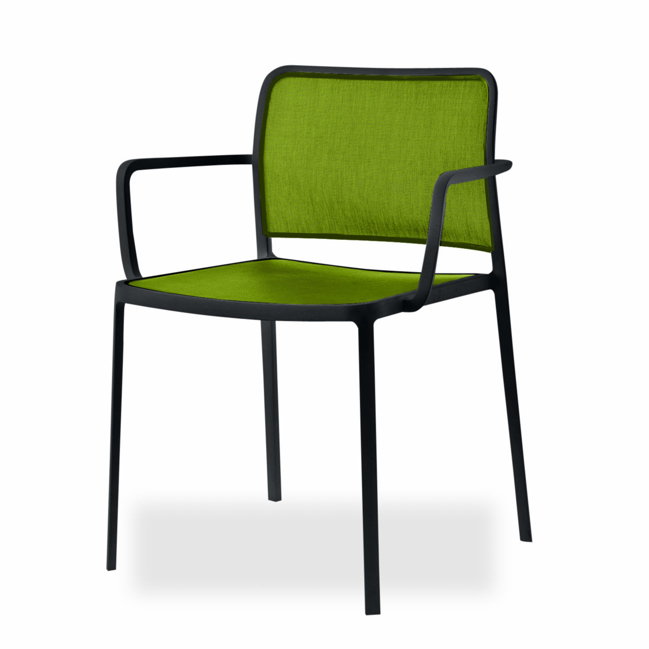 Audrey Soft Chair in Black by Kartell