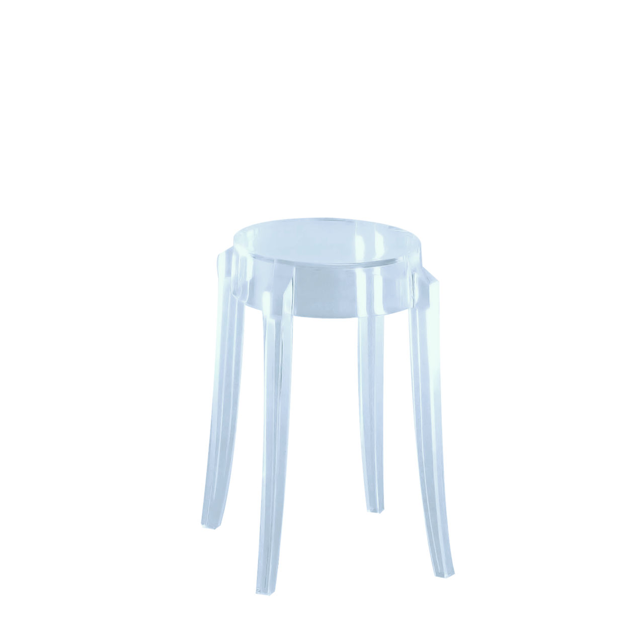Charles Ghost Stool in Light Blue Small by Kartell