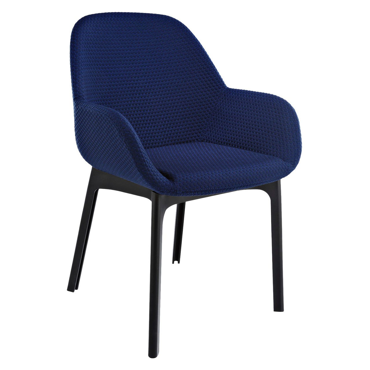 Clap Melange Chair in Black and Blue by Kartell