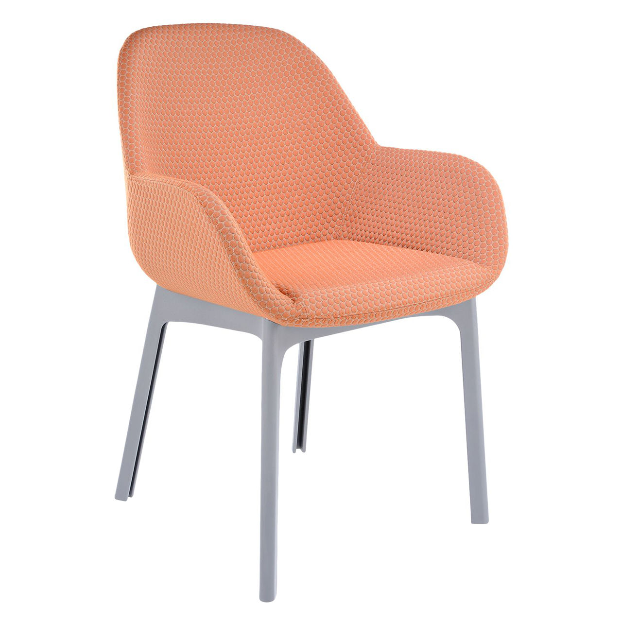 Clap Melange Chair in Gray and Orange by Kartell
