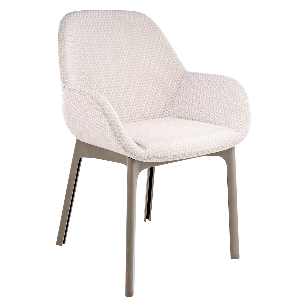 Clap Melange Chair in Tortoise and Beige by Kartell