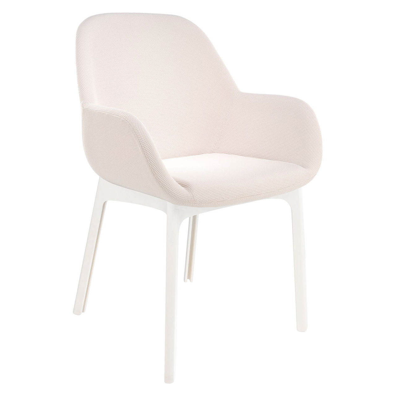 Clap Solid Chair in Trevira Beige by Kartell