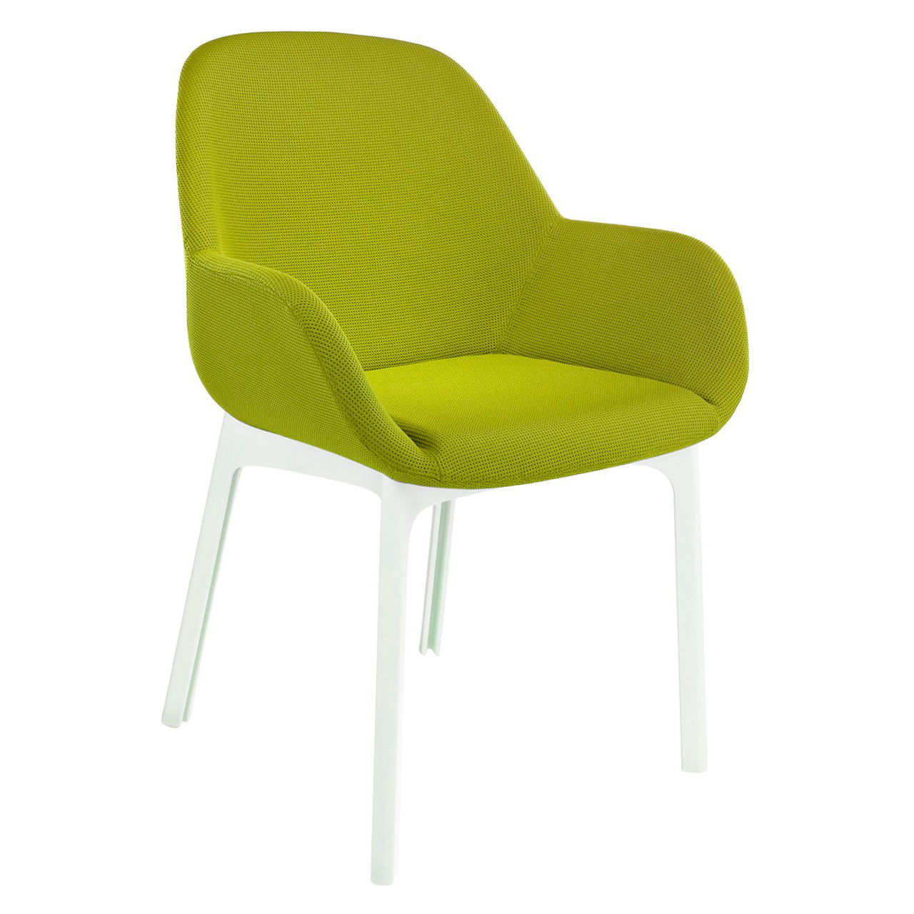 Clap Solid Chair in Trevira Green by Kartell