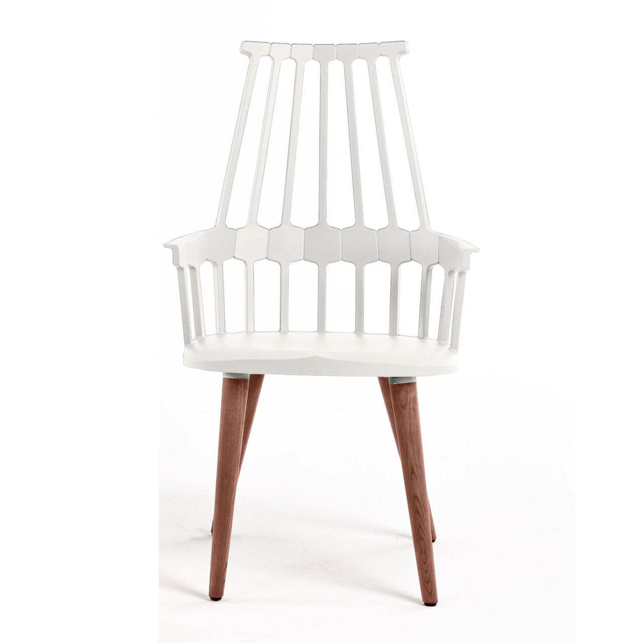 Comback Chair with 4 Leg Base in White by Kartell
