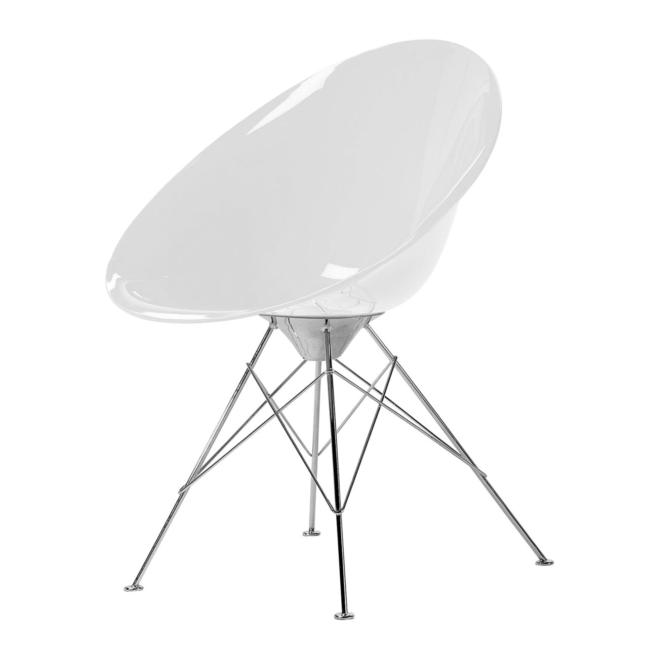 Ero S Chair in Glossy White by Kartell