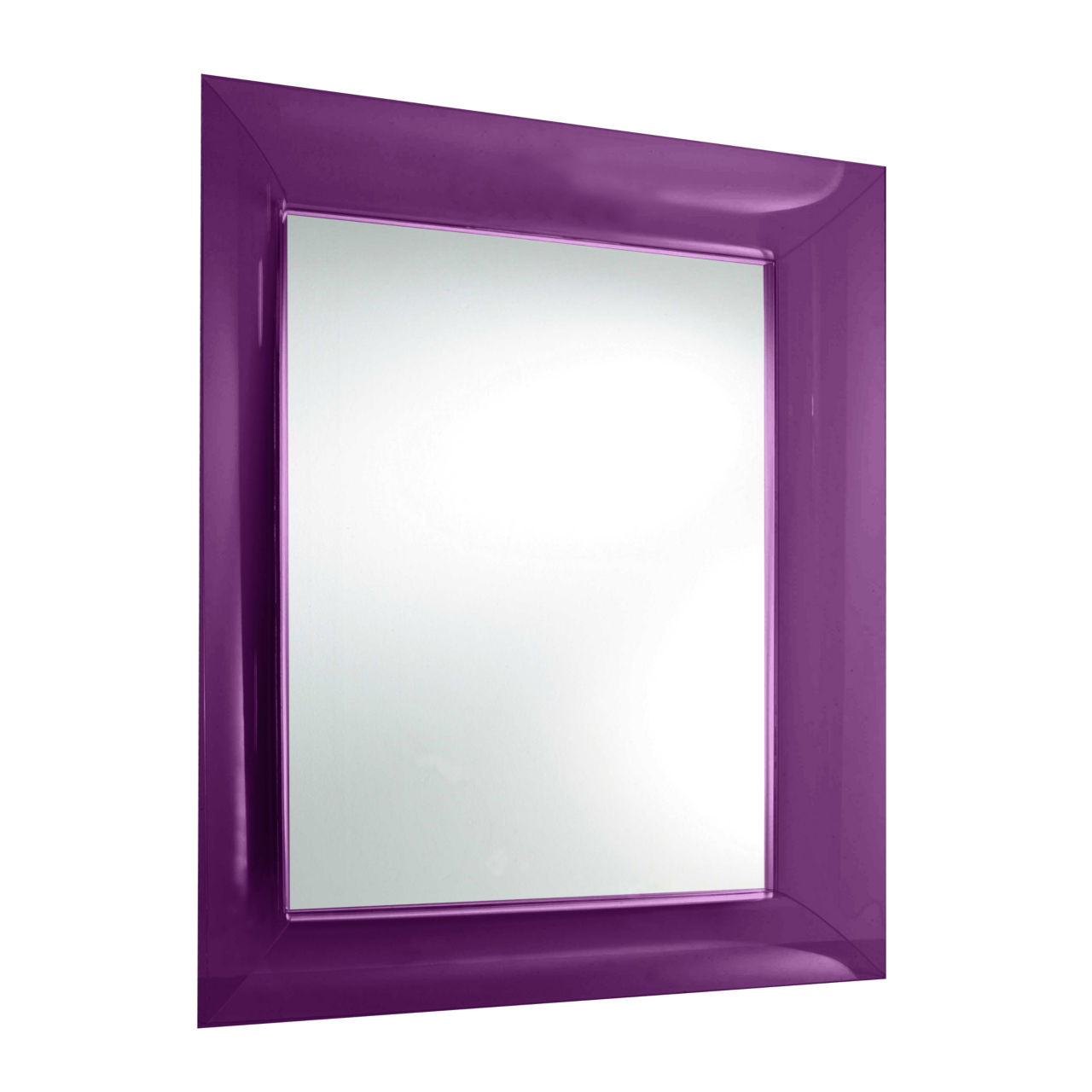 Francois Ghost Mirror in Purple Small by Kartell