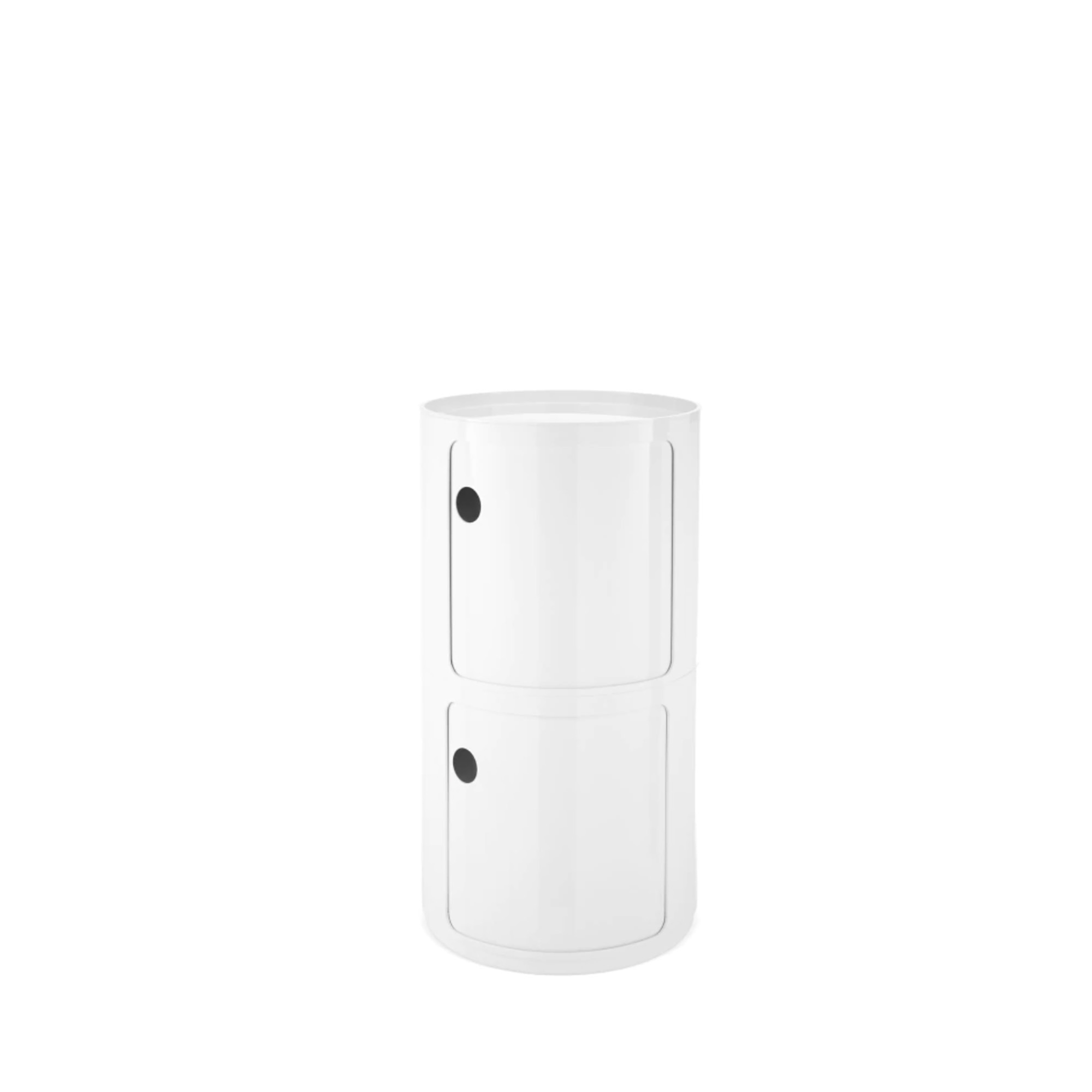 Componibili Large Round White Stackable Modules Tall Modules by Kartell