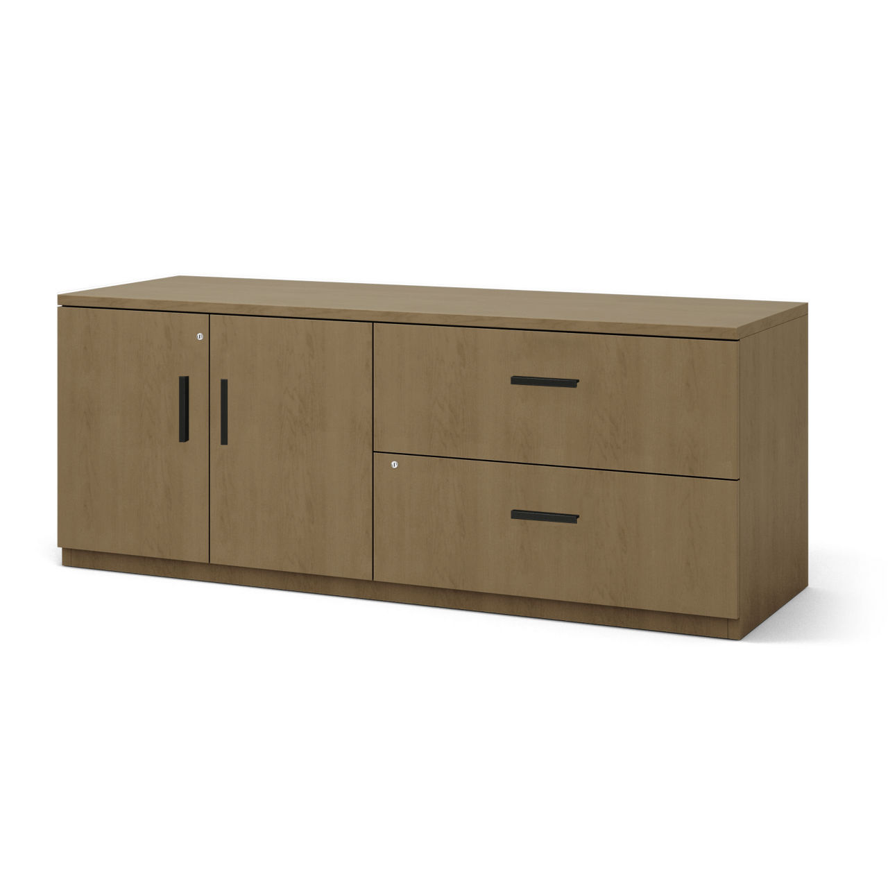 Currency File and Storage Credenza in Virginia Walnut by Steelcase