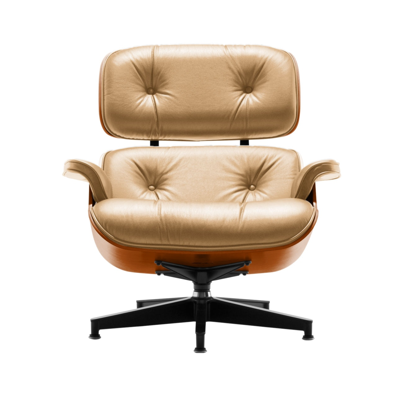 Eames Lounge Chair in Rattan Leather by Herman Miller