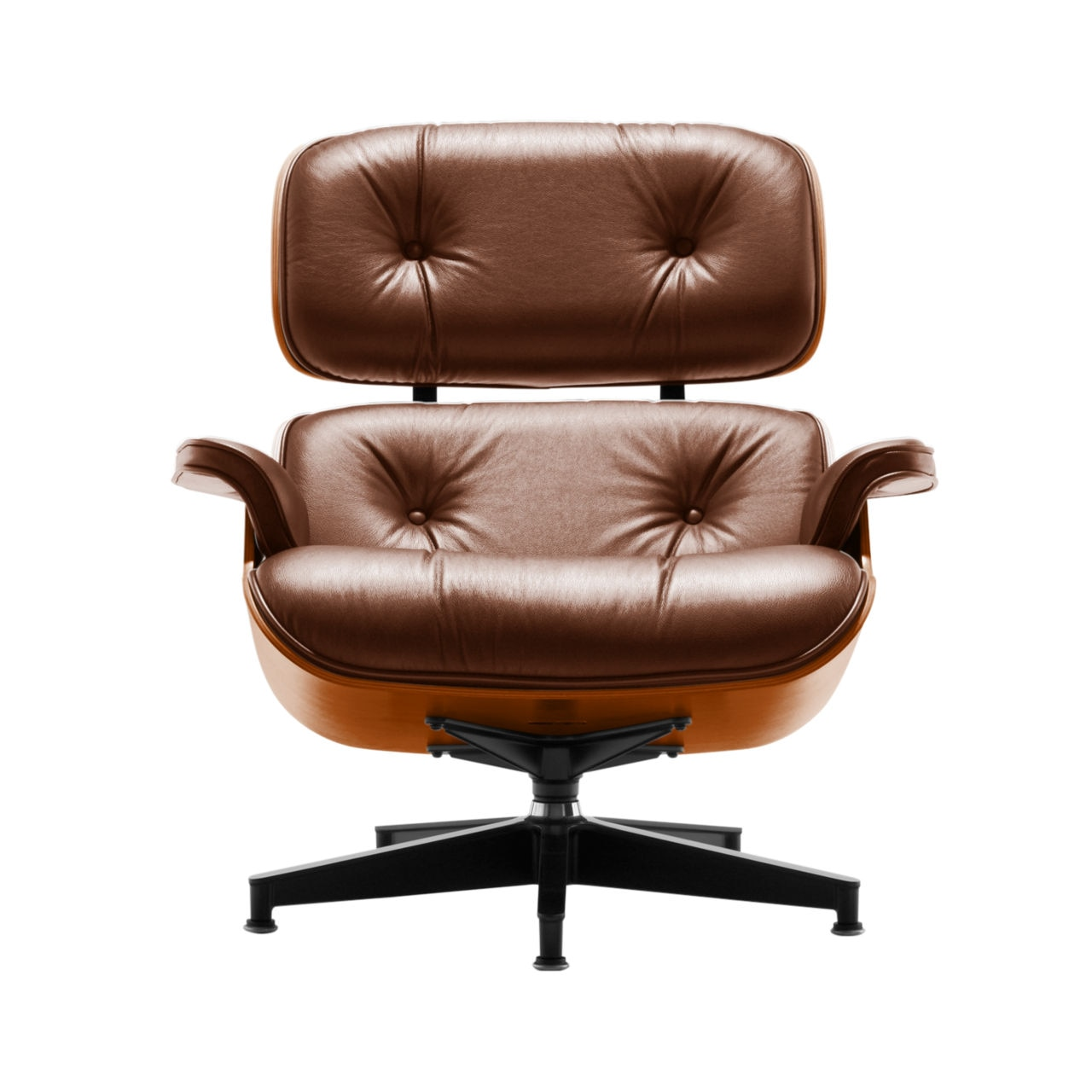 Eames Lounge Chair in Cobblestone MCL Leather by Herman Miller
