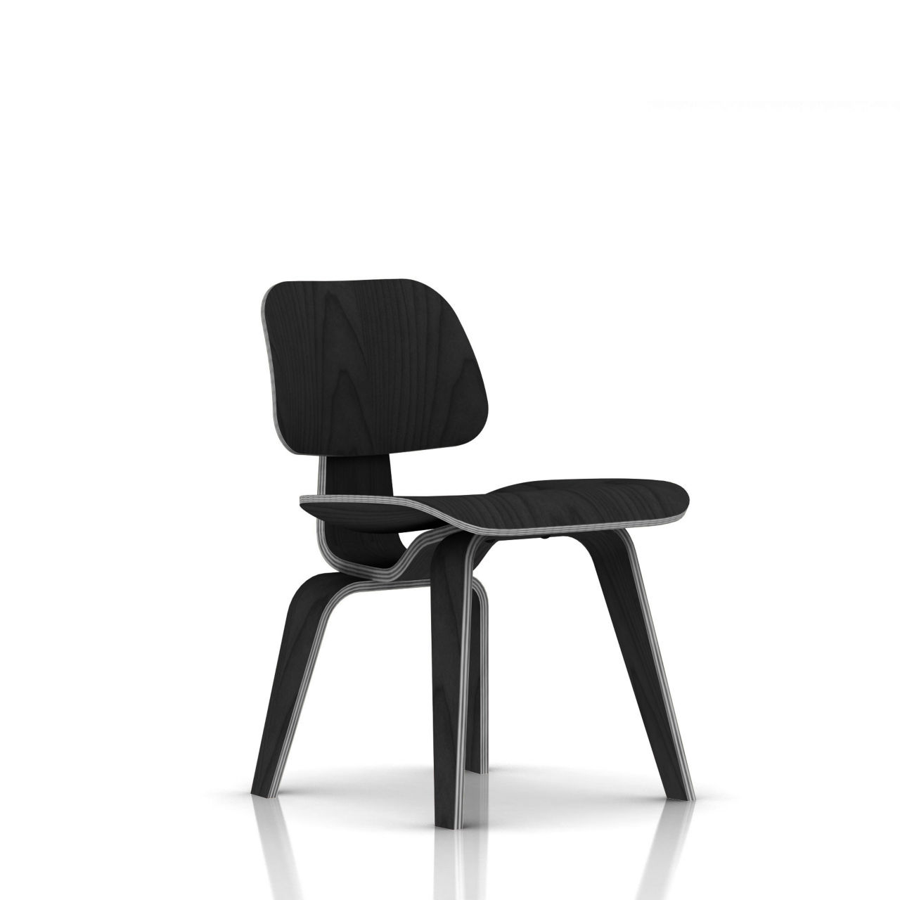 Eames Plywood Dining Chair in Ebony by Herman Miller