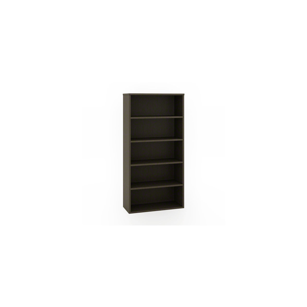 Currency Tall Bookcase in Chocolate Walnut by Steelcase