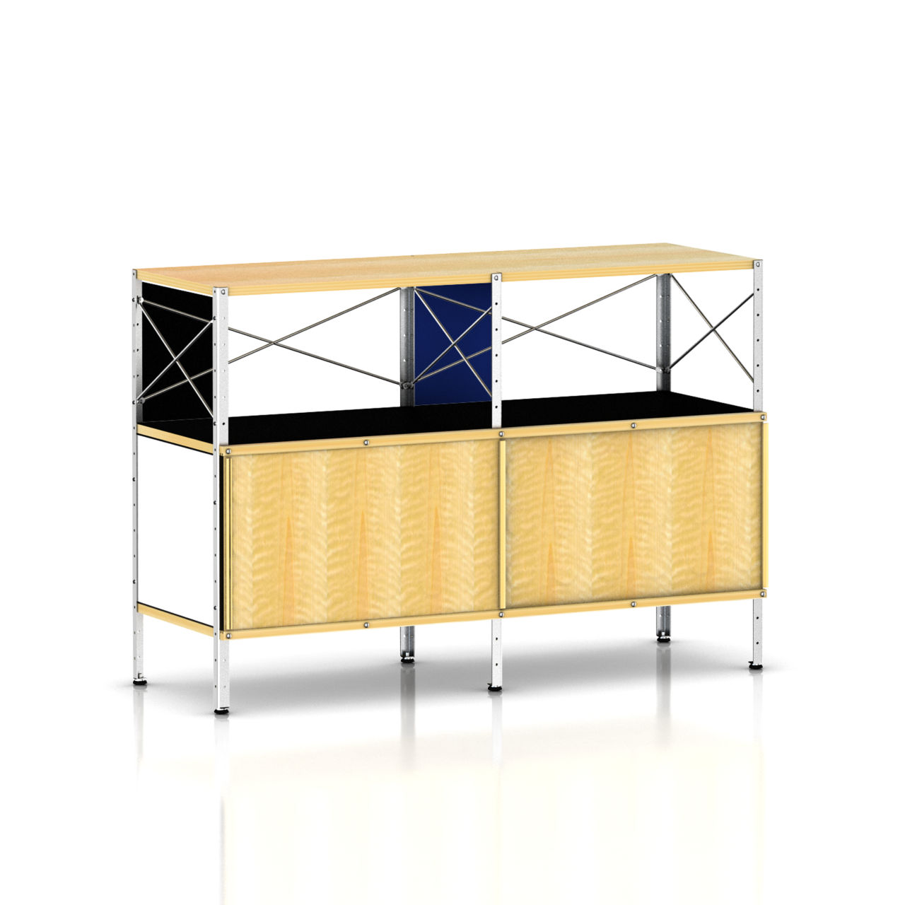 Eames Storage Unit 2 x 2 with Doors in Vibrant by Herman Miller