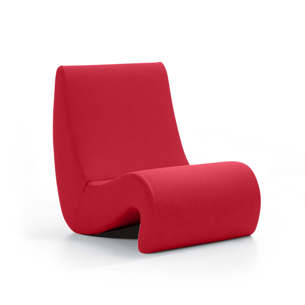 Amoebe Chair in Red Lowback by Vitra