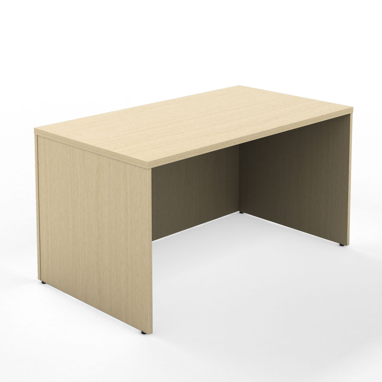 Currency 48 Rectangle Desk in Winter on Maple 24 in by Steelcase