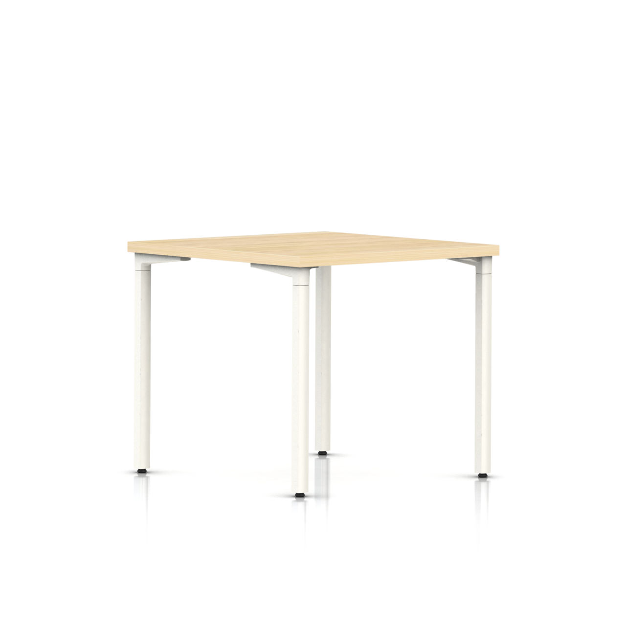 Everywhere Square Table in Clear on Ash 30 IN x 30 IN by Herman Miller