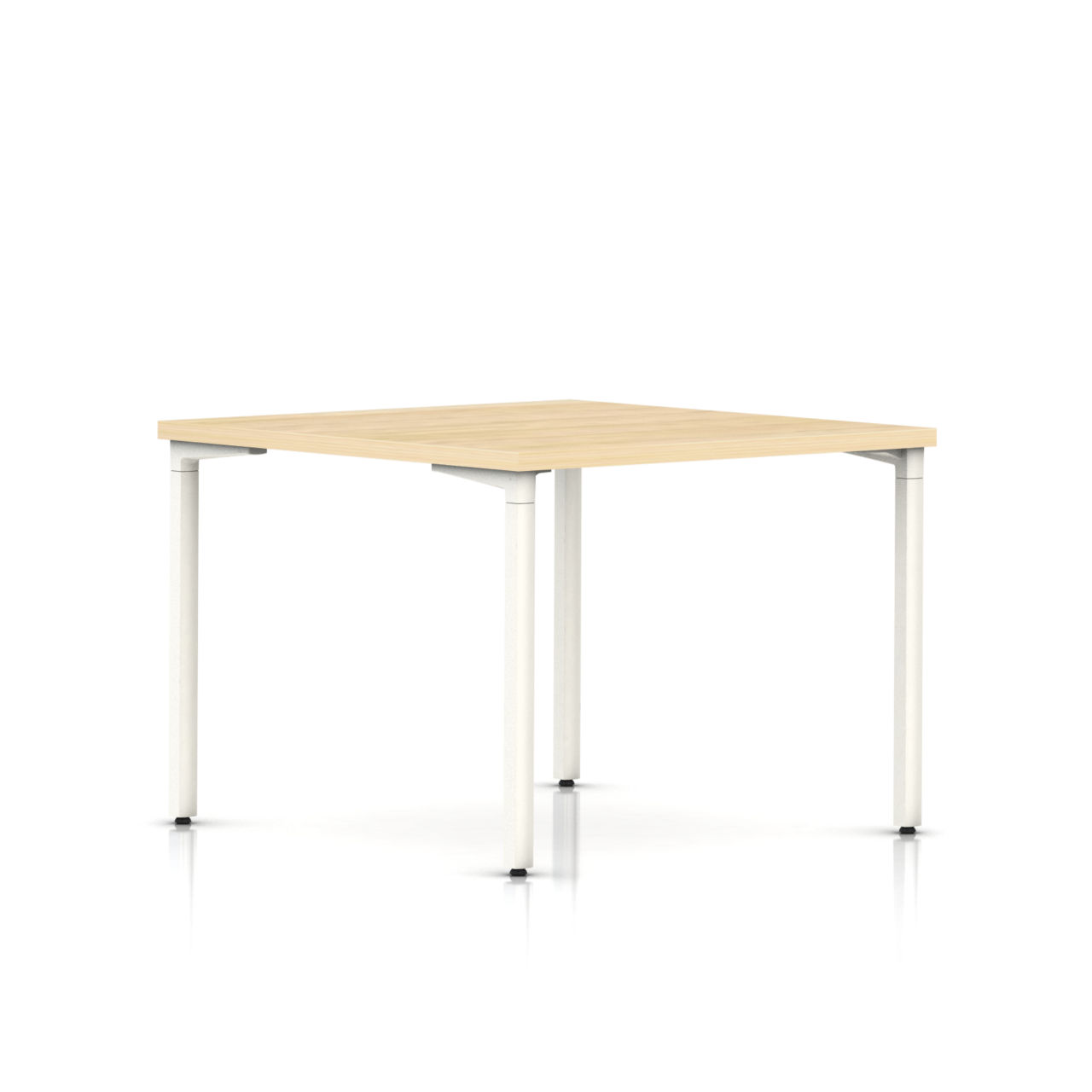 Everywhere Square Table in Clear on Ash by Herman Miller