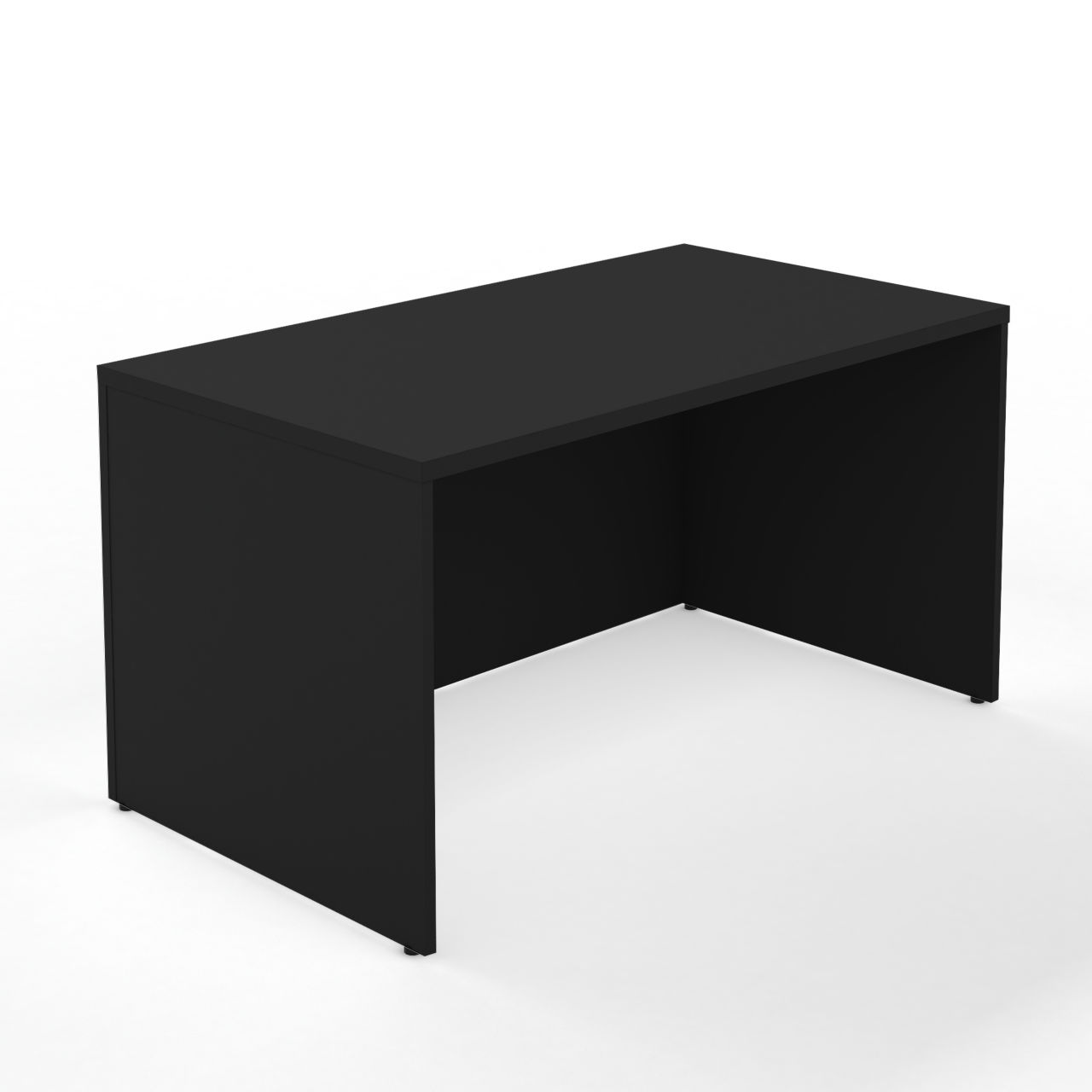 Currency 72 Rectangle Desk in Black by Steelcase