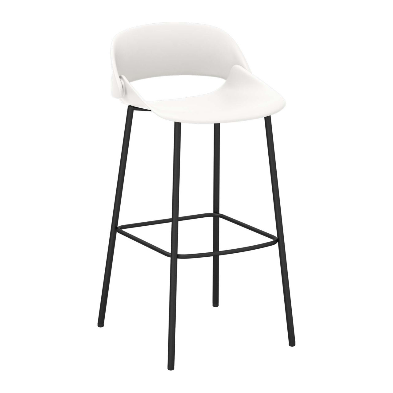Irma Bar Stool in Off White by National Office Furniture