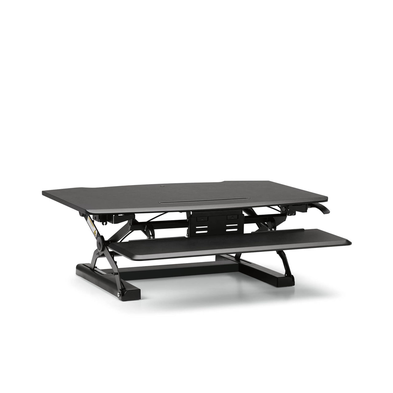 Coordinate Desktop Riser with Keyboard Tray in Black by Hon
