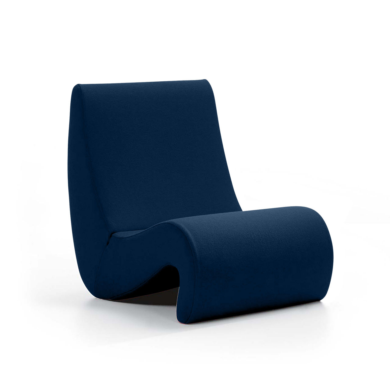 Amoebe Chair in Matte Blue Highback by Vitra