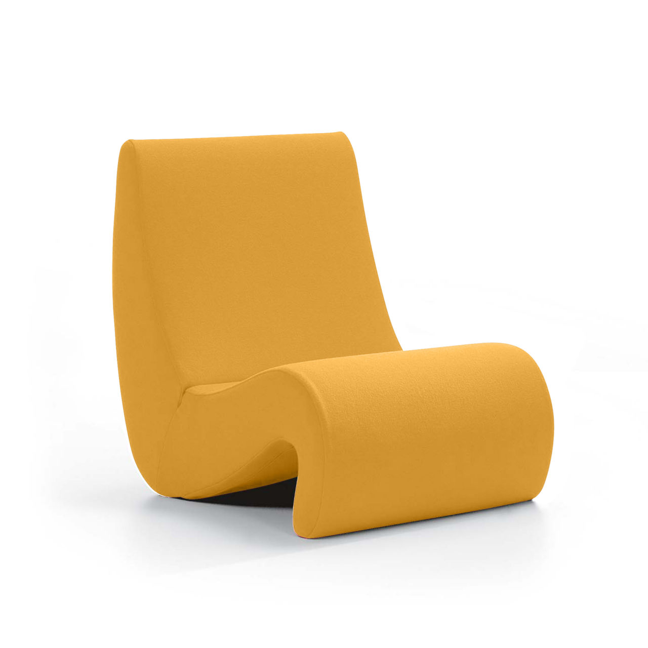 Amoebe Chair in Golden Yellow Highback by Vitra