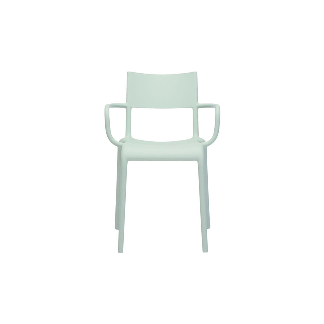 Generic Chair A Set of 2 in Sage Green by Kartell