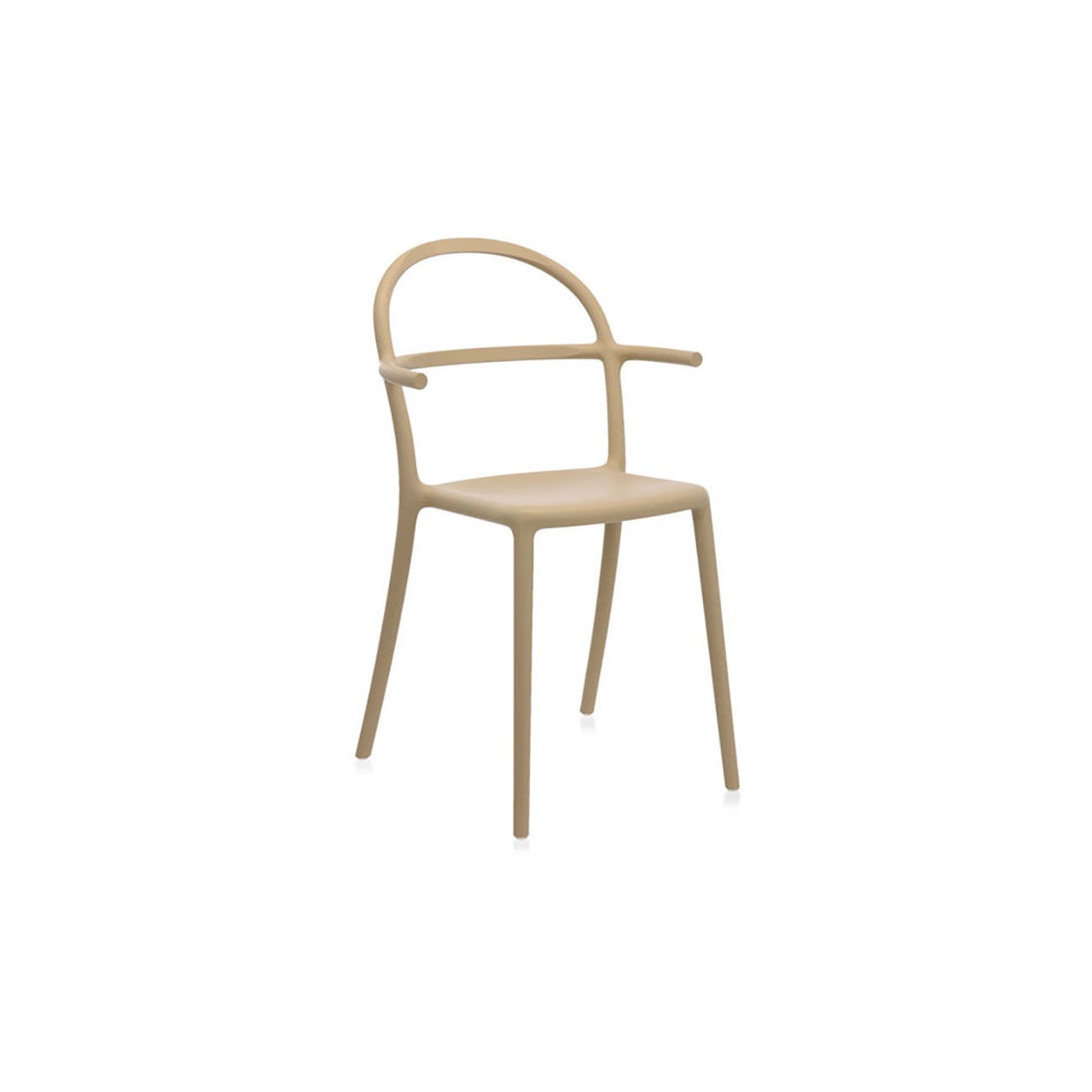 Generic Chair C Set of 2 in Dove by Kartell
