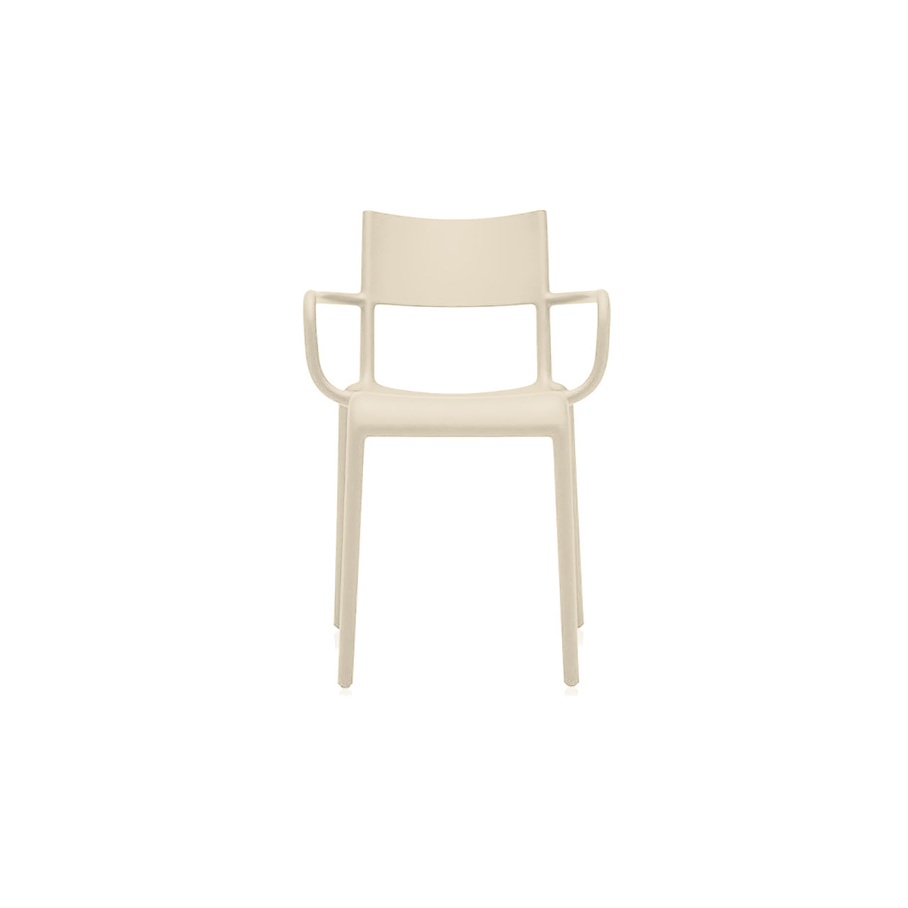 Generic Chair A Set of 2 in Dove by Kartell
