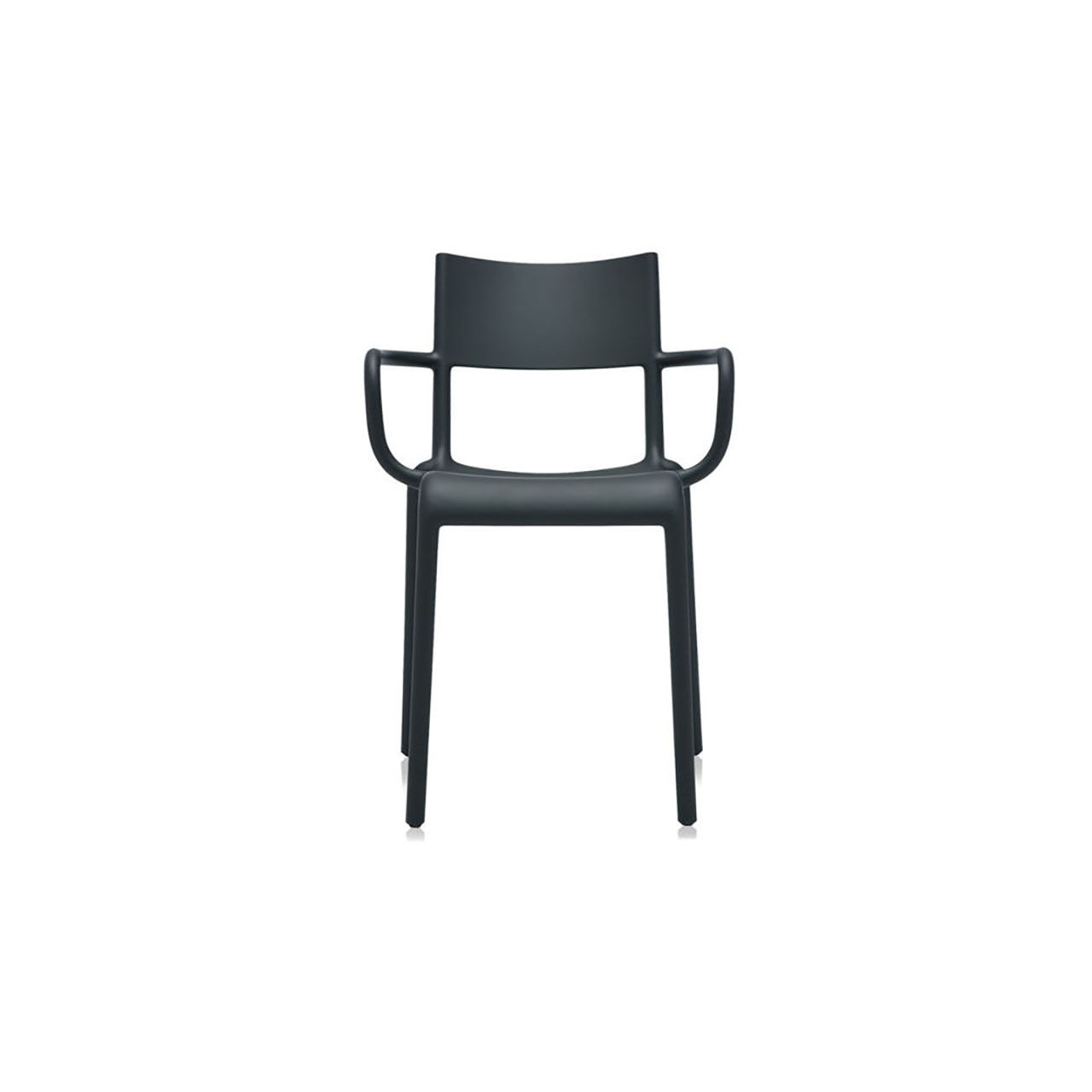 Generic Chair A Set of 2 in Black by Kartell