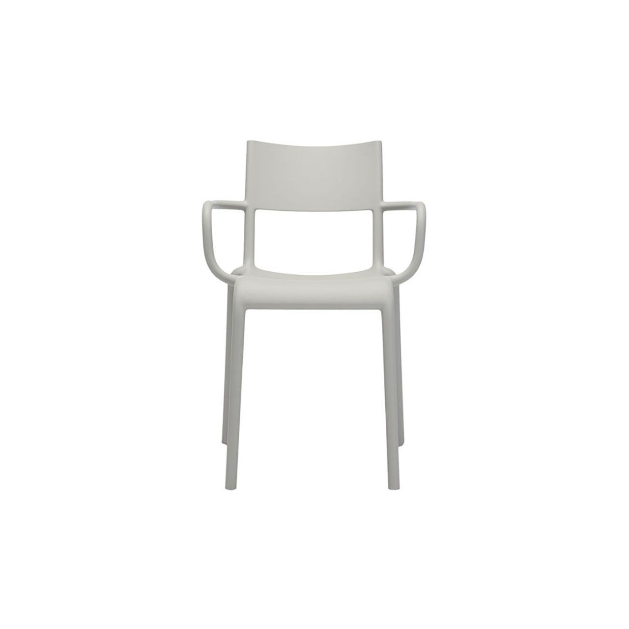 Generic Chair A Set of 2 in Grey by Kartell