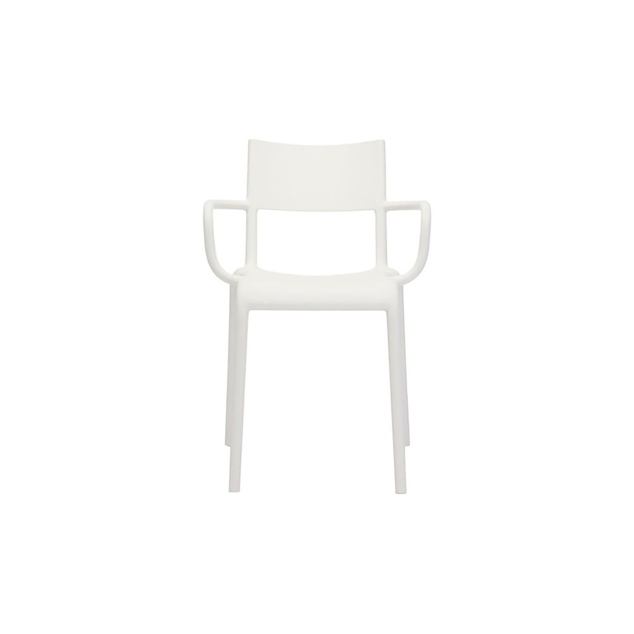 Generic Chair A Set of 2 in White by Kartell