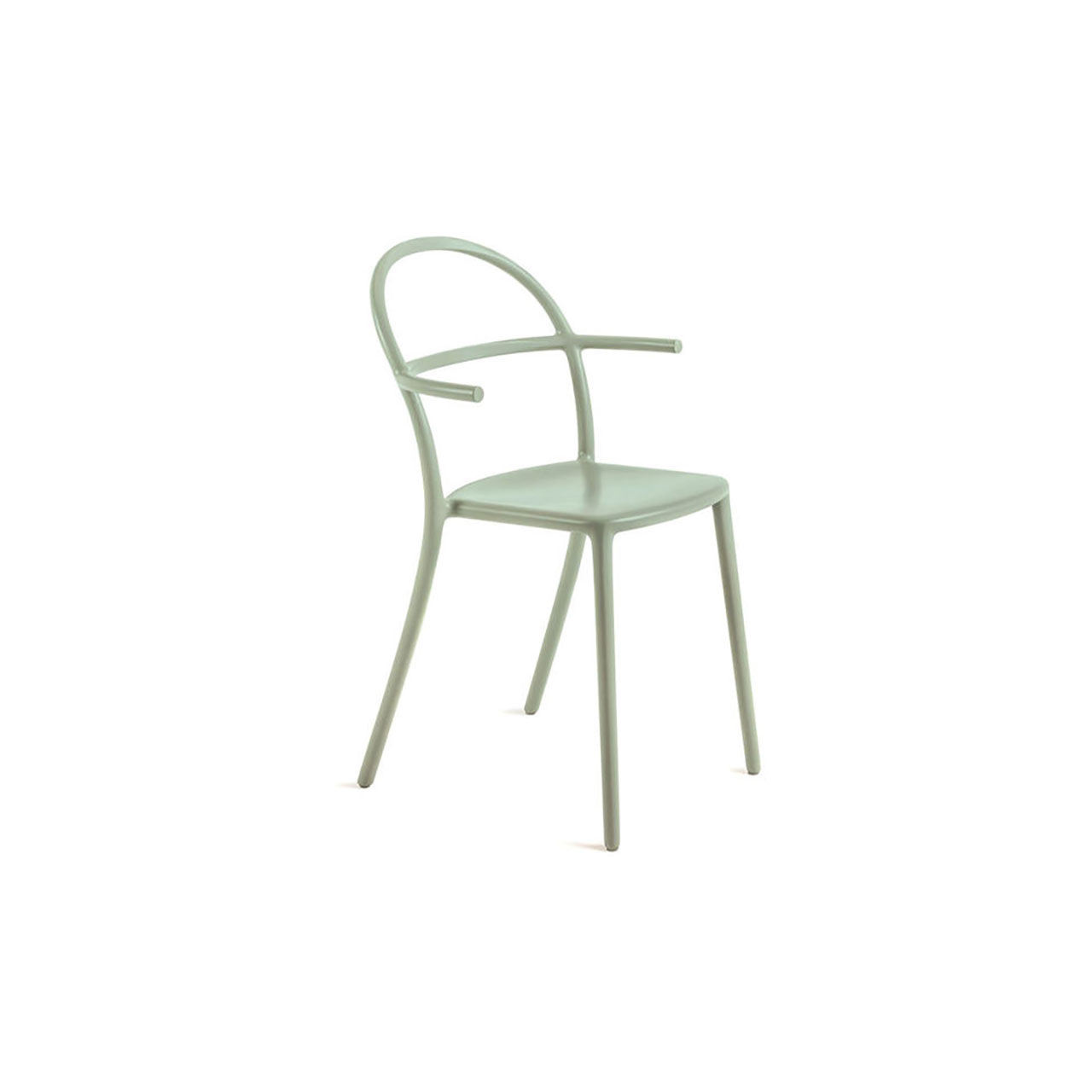 Generic Chair C Set of 2 in Sage Green by Kartell