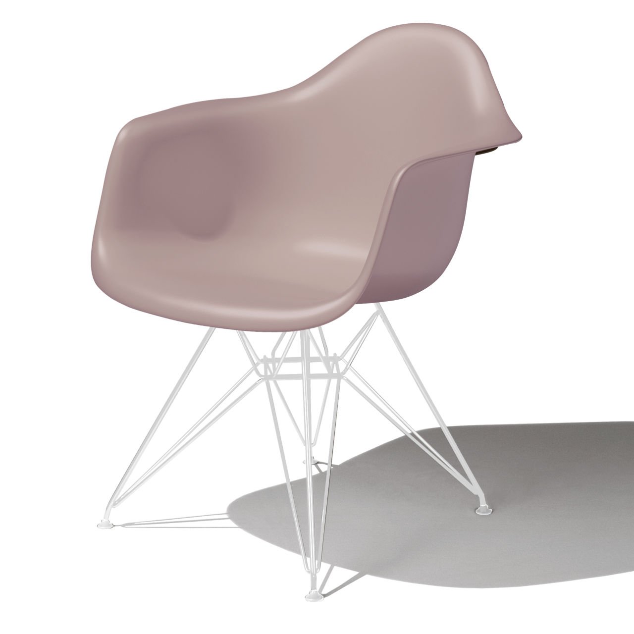 Eames Molded Plastic Armchair in Stone by Herman Miller