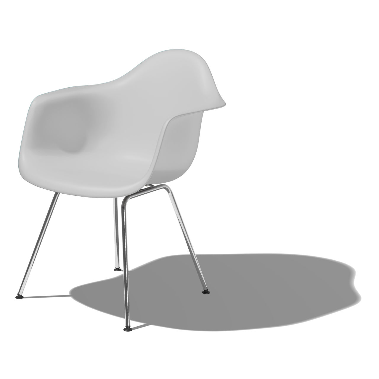 Eames Molded Plastic Armchair with 4 Leg Base in Alpine by Herman Miller