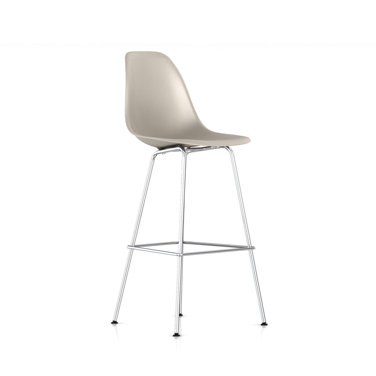 Eames Molded Plastic Bar Stool in Stone by Herman Miller