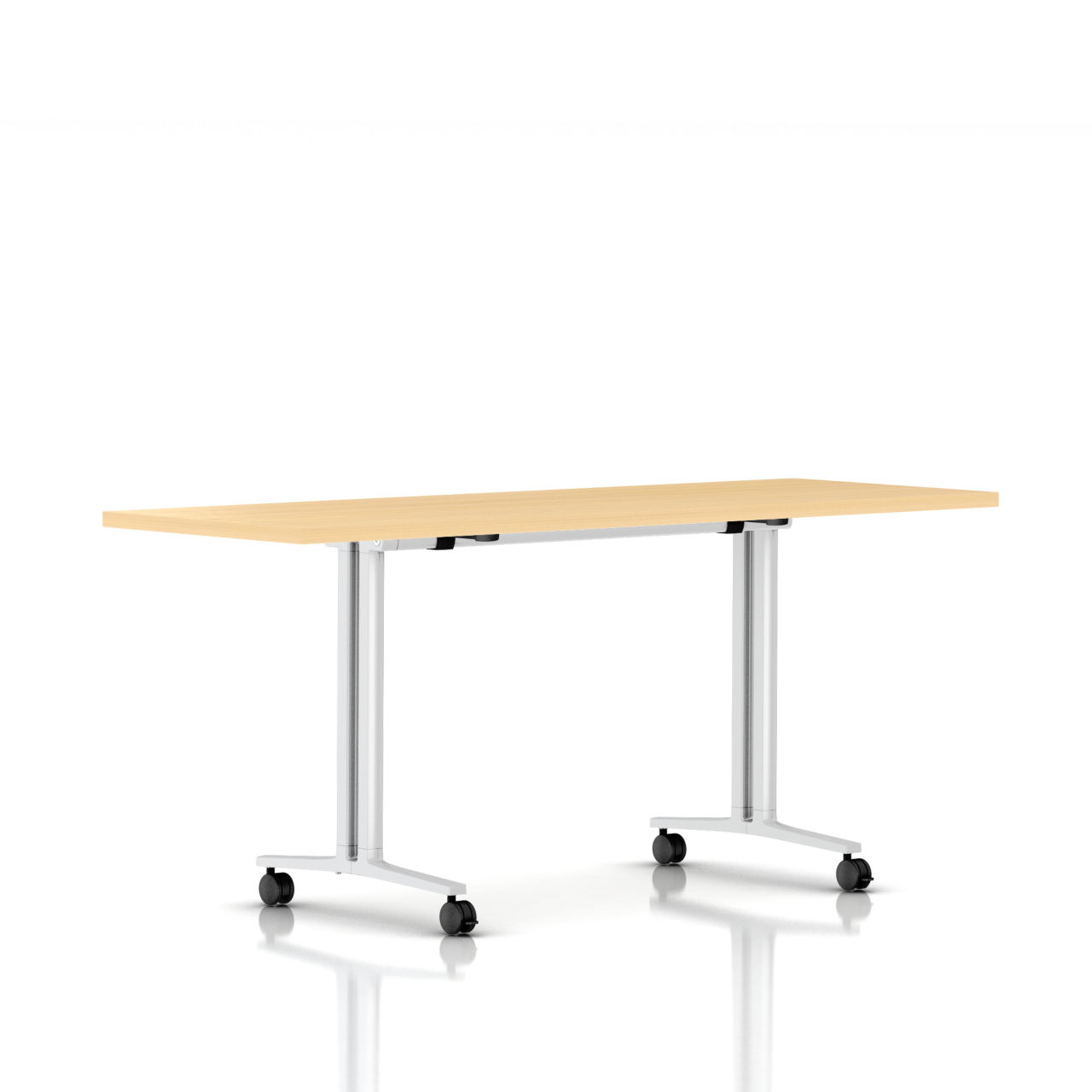Flip Top Everywhere Table in Natural Maple 72 in Wide by Herman Miller