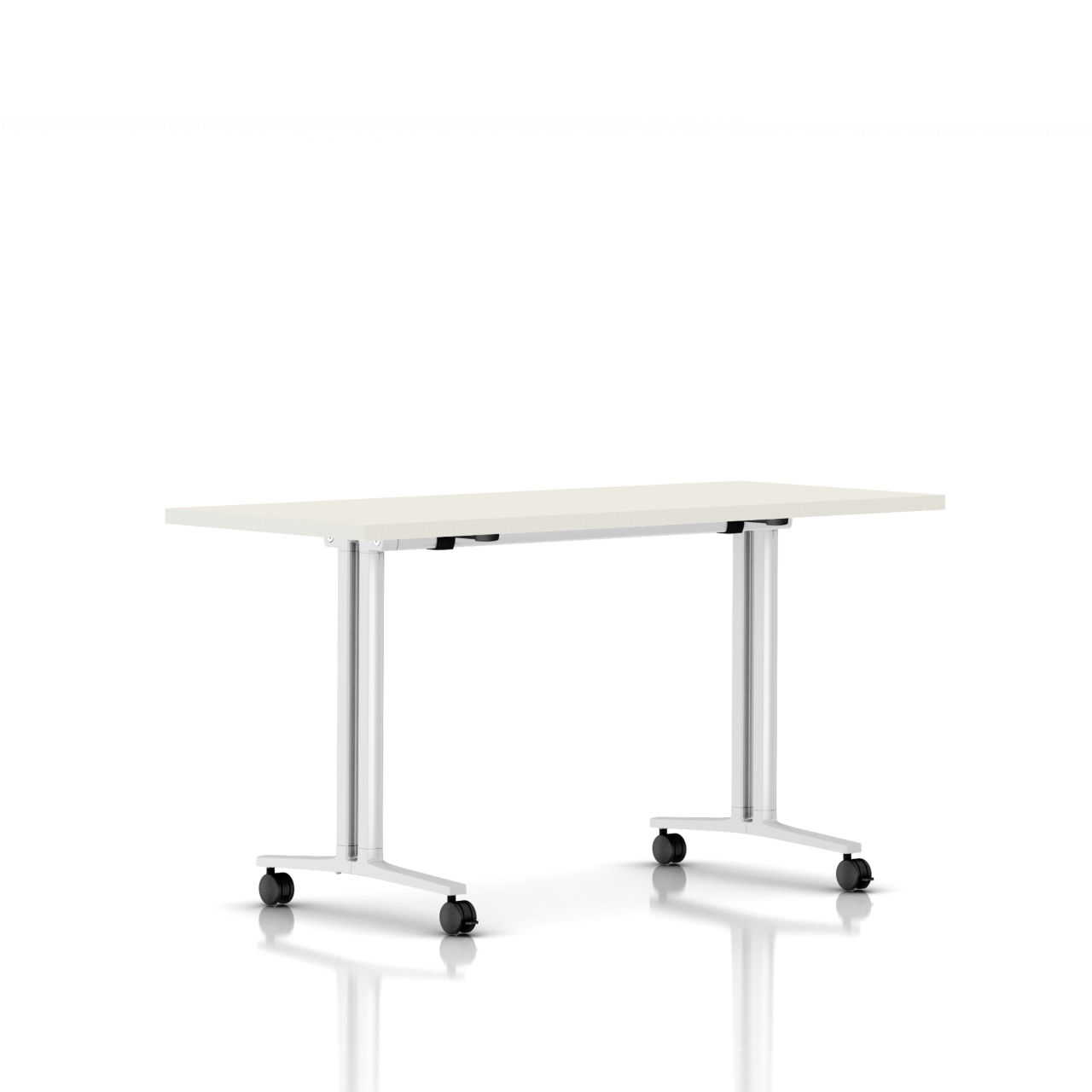 Flip Top Everywhere Table in White 60 in Wide by Herman Miller