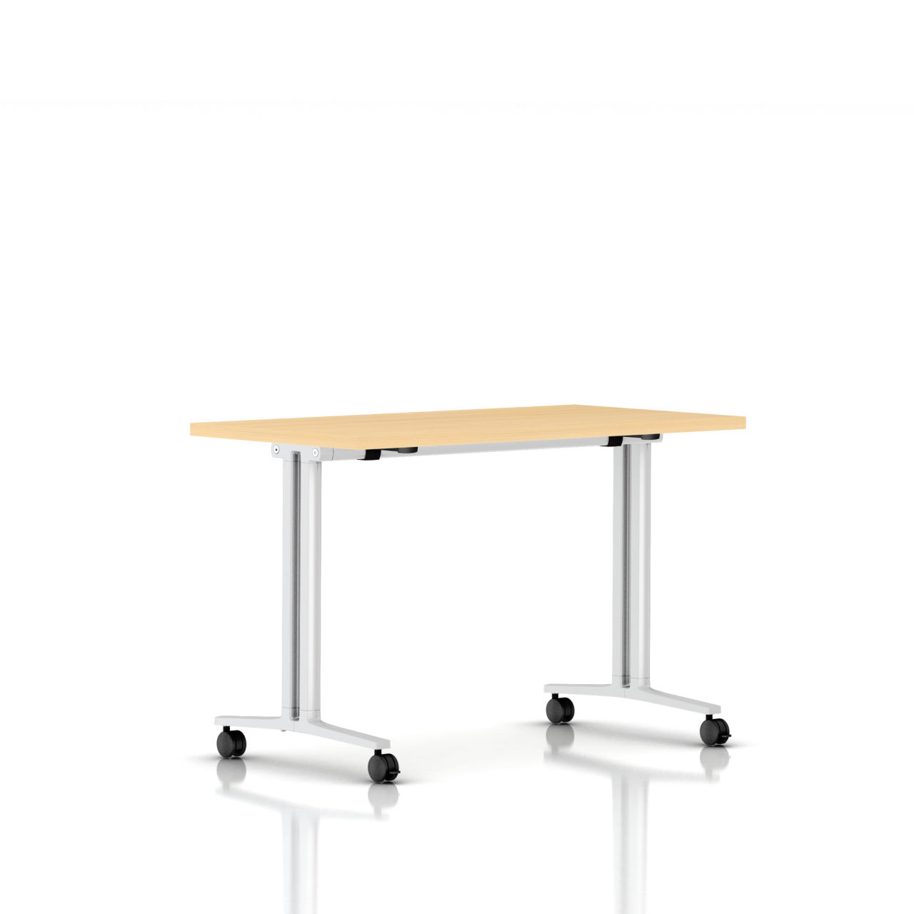 Flip Top Everywhere Table in Natural Maple 48 in Wide by Herman Miller