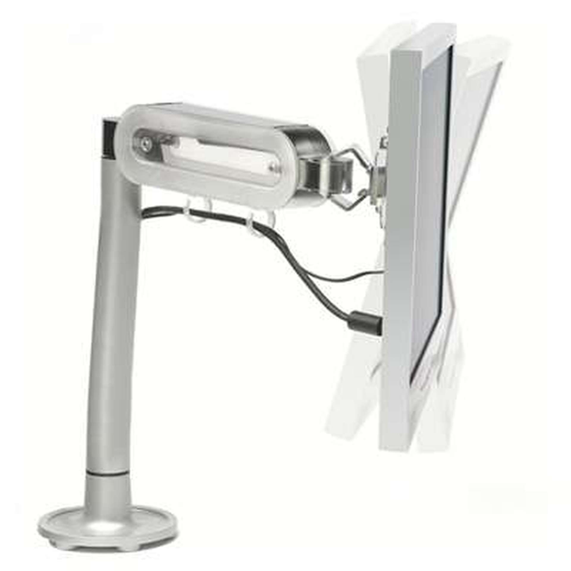 FYI Clamp Monitor Arm in Arctic White by Steelcase