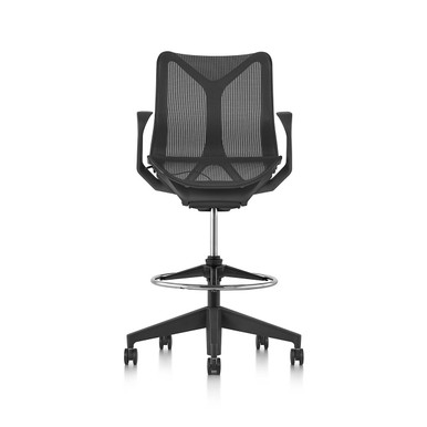 Cosm Stool Low Back Height by Herman Miller