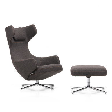 Grand Repos Lounge Chair in Canary Mello Fabric by Vitra