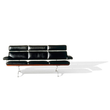 Eames Sofa in Cocoa Open Line Leather by Herman Miller