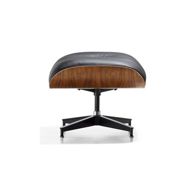 Eames Ottoman in Brown MCL Leather by Herman Miller
