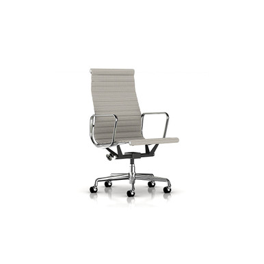 Eames Aluminum Executive Chair in Rattan by Herman Miller