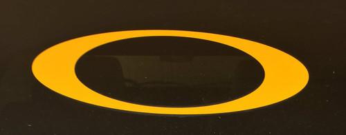 """O"" car decal - gold"