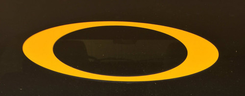 """O"" car decal - gold"