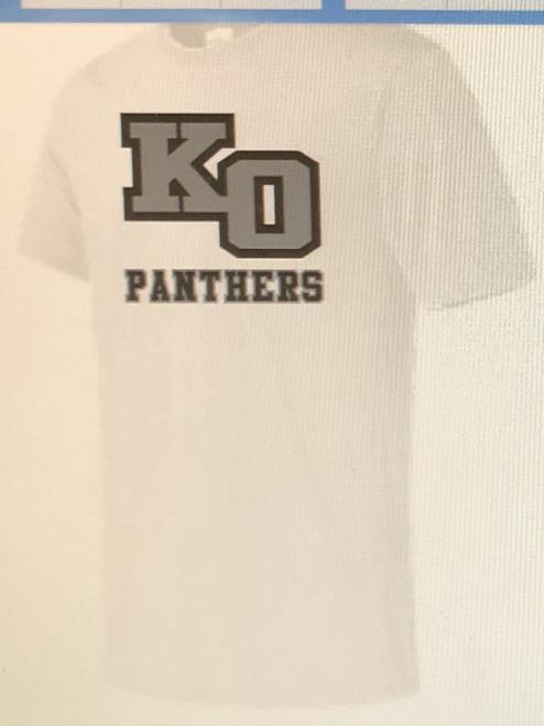 """White drifit """"KO"""" T-shirt"""